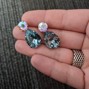 Sorrelli Teardrop Crystal Accent Earrings